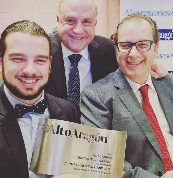La trayectoria empresarial de Aracarpas, reconocida con un diploma en los Premios Altoaragoneses del año 2017