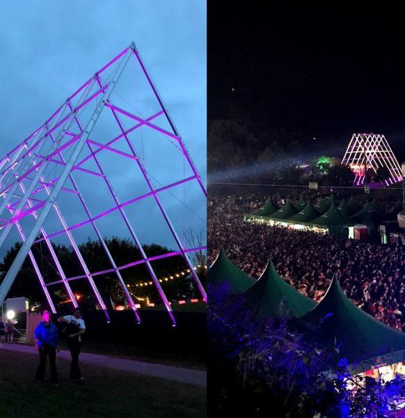 BBK Live ¡Mira que estructura luminosa hemos instalado!