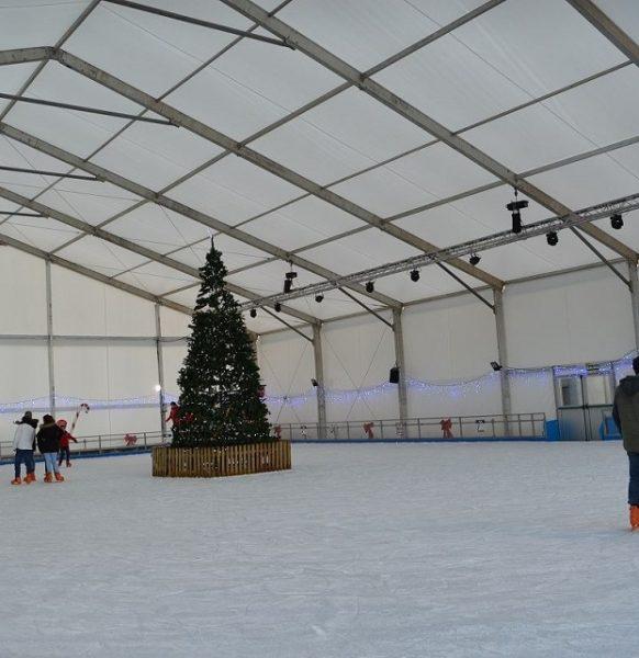 Carpas para pistas de patinaje sobre hielo