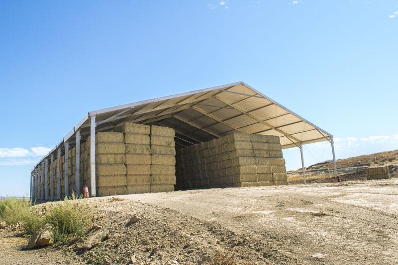 Carpa de almacenaje agrícola