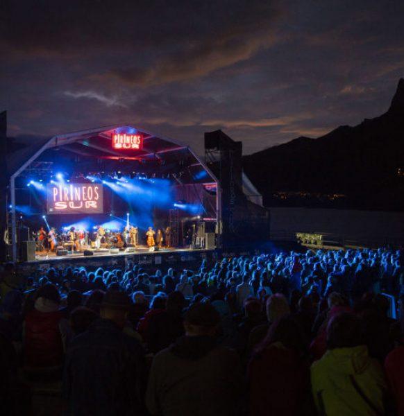 Las carpas de Aracarpas en el festival Pirineos Sur