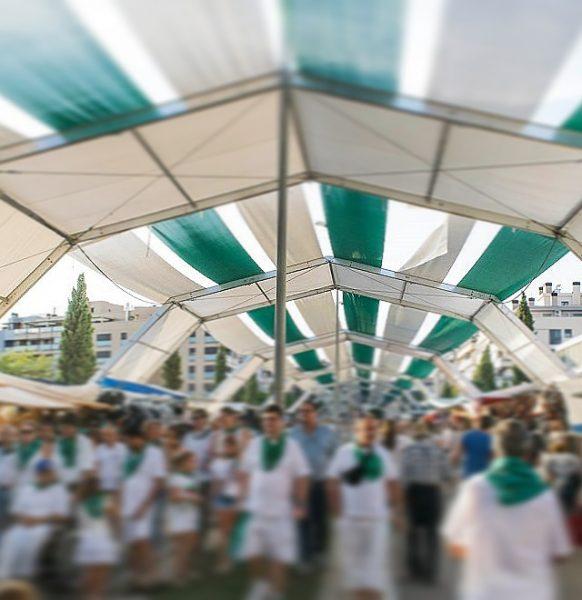 Carpas para fiestas patronales. San Lorenzo 2019