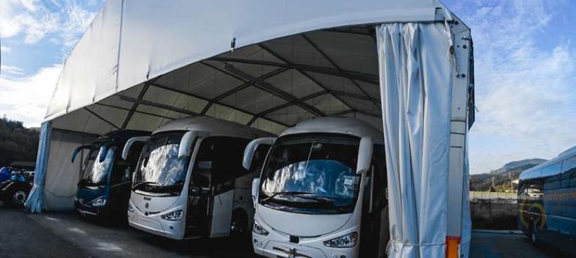 Carpas para aparcar autobuses