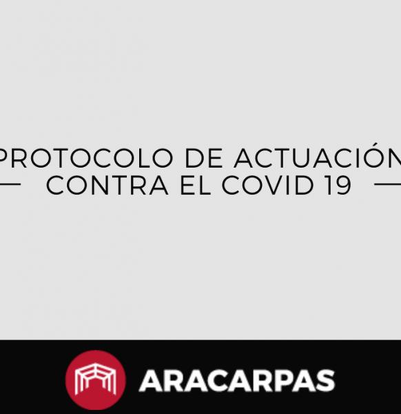 Medidas de prevención en Aracarpas para afrontar al coronavirus