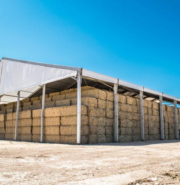 Carpas para almacenaje en agricultura
