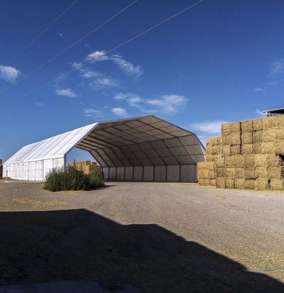 Carpas agrícolas: carpa para almacenaje de alfalfa
