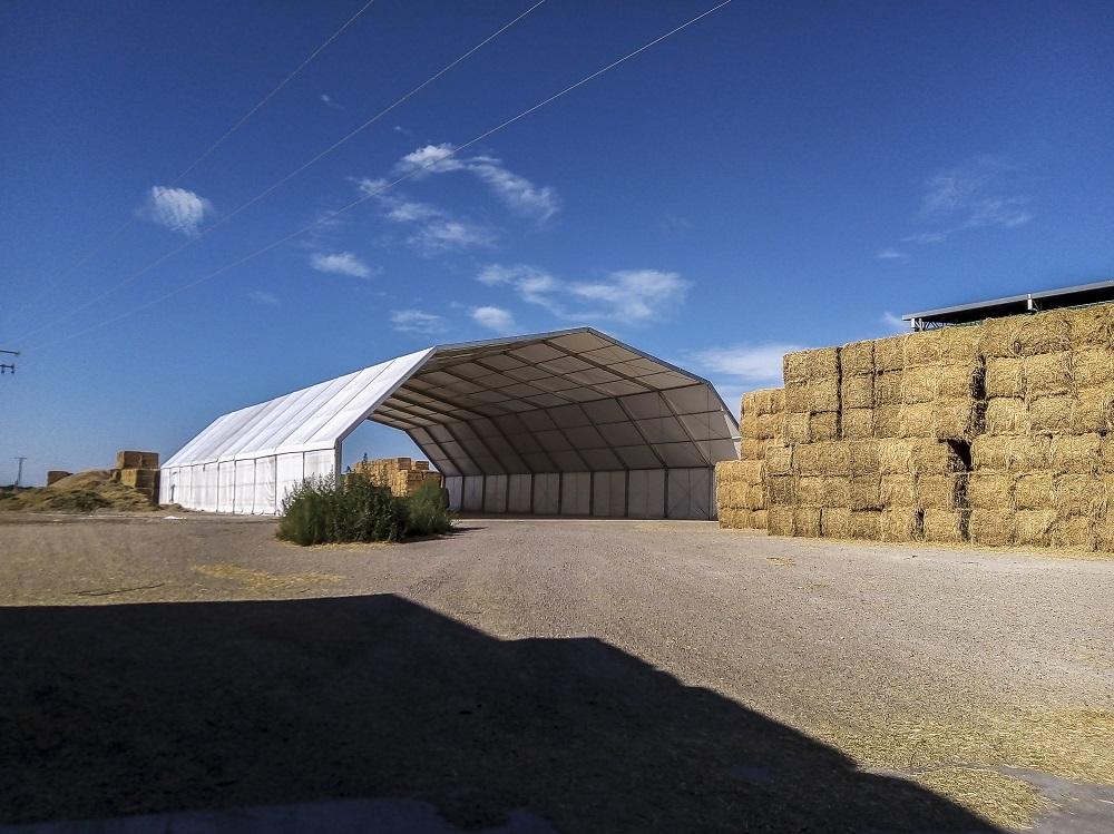 Carpas para almacenaje de alfalfa