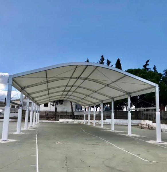 Carpas para colegios en Andalucía: nuevo trabajo en Olvera, Cádiz
