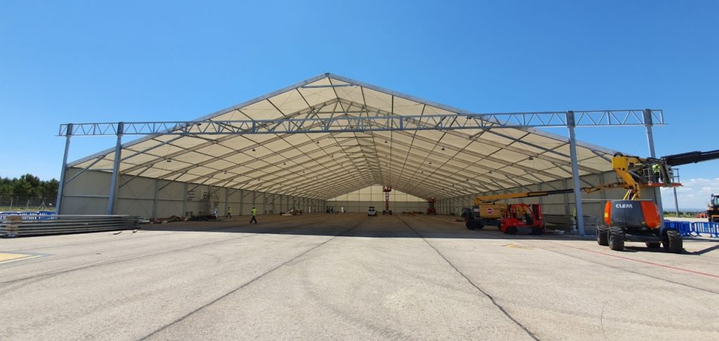 naves desmontables para hangares
