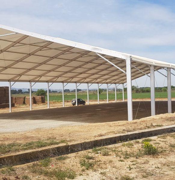 Carpas de alquiler para almacenar alfalfa