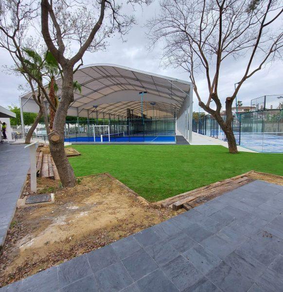 Carpa para pistas de pádel en Jerez
