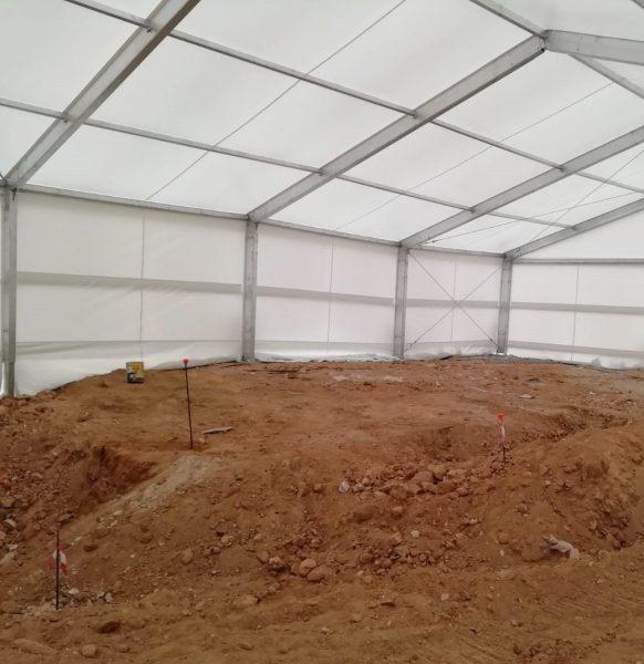 Carpas para yacimientos arqueológicos