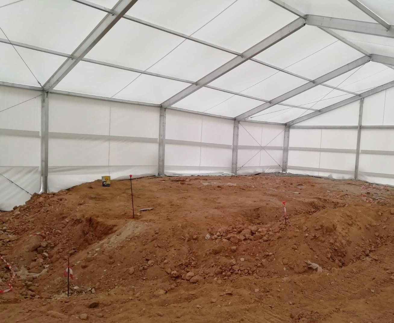 Carpa para yacimientos arqueológicos
